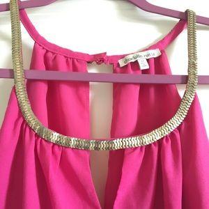 Charlotte Russe Pink Jumpsuit